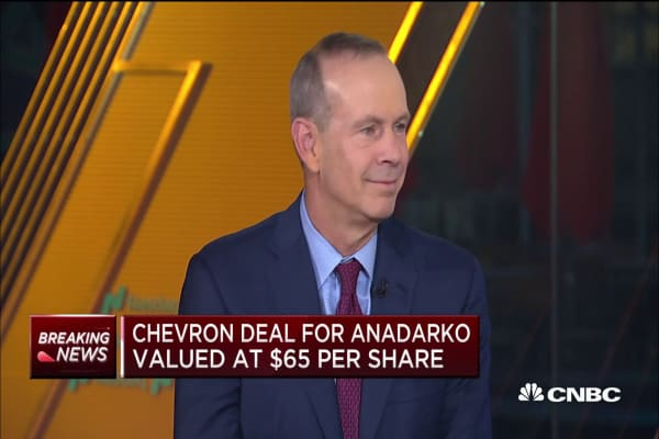 Watch CNBC's full interview with Chevron CEO Michael Wirth on the Anadarko  Petroleum acquisition