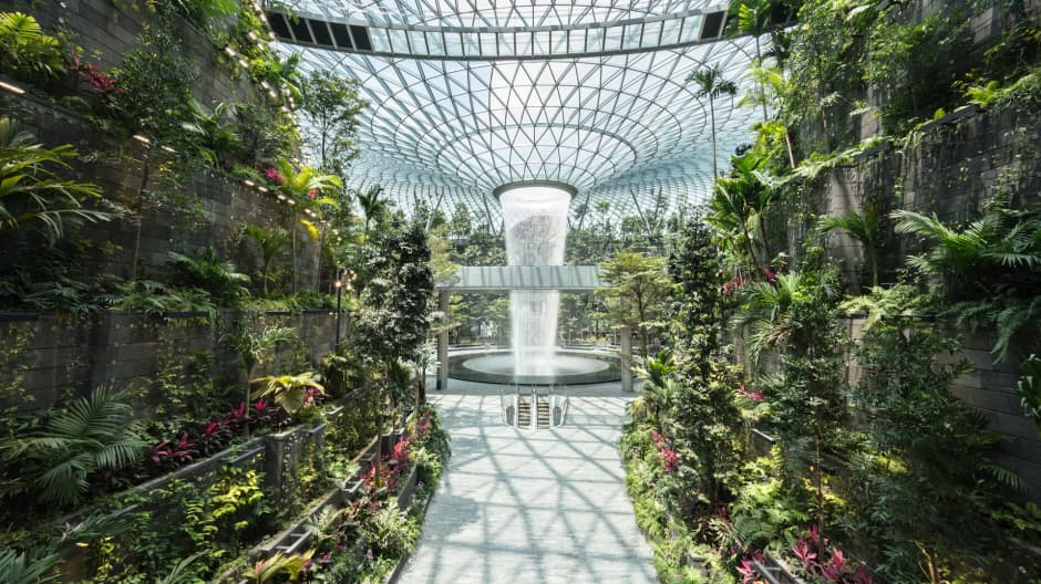 World's best airport has new $1 billion shopping, entertainment hub with indoor waterfall—look inside