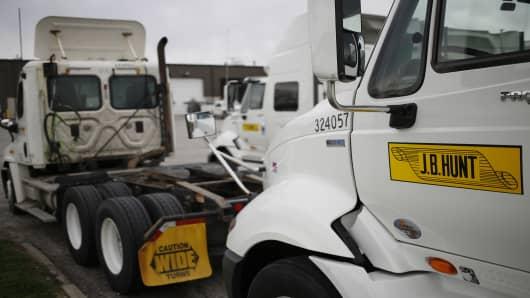 Operations At A JB Hunt Transport Services Inc. Facility As 1st Quarter Profit Beats Estimates