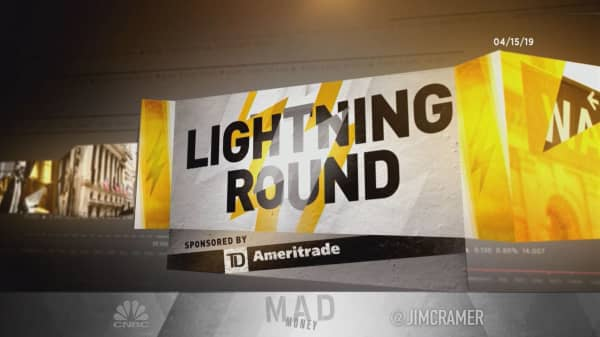 Cramer's lightning round: This one's always a bridesmaid, never a bride