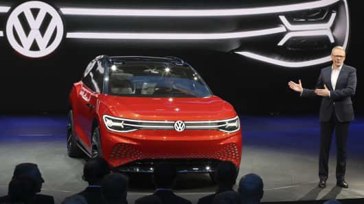 Volkswagen Unveils A Concept Electric Suv The Whimsically Named Id Roomzz During Auto