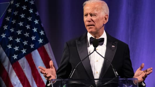 Former U.S. Vice President Joe Biden delivers remarks during the National Minority Quality Forum on April 9, 2019 in Washington, DC.