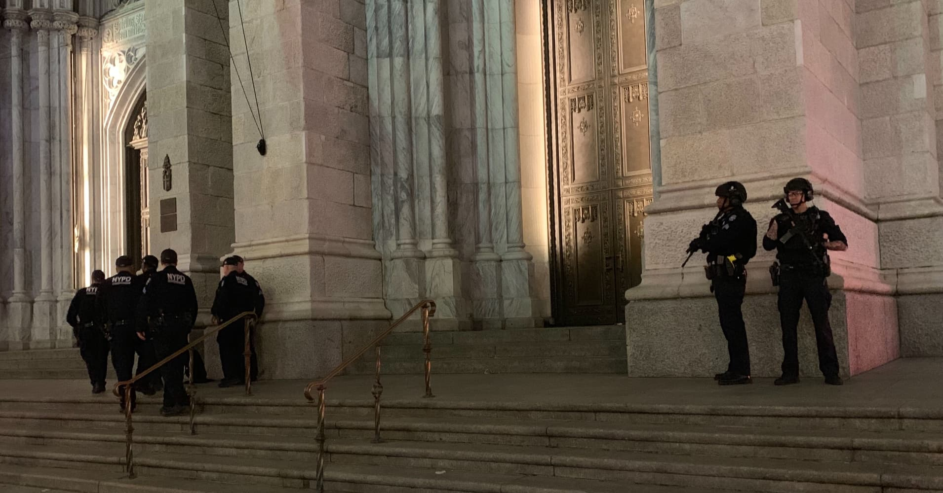Man with gas cans inside New York's St. Patrick's Cathedral taken into custody by NYPD