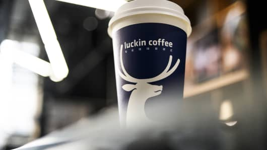 China's Luckin Coffee raises $150 million in funding from BlackRock and other investors