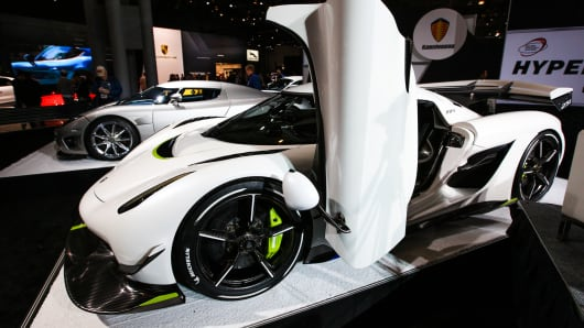 The fastest cars debuting at New York auto show can hit 60 in under 2 seconds and top out at 300 mph