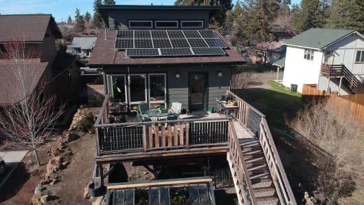 Bruce Sullivan's energy efficient home in Bend, Ore.