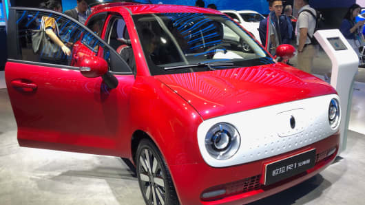 Take a look at the tiny 'Goddess' electric vehicle from China's Great Wall Motors