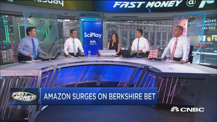 Amazon surges after Berkshire goes head first into the jungle, is it too late to buy the high-flying stock
