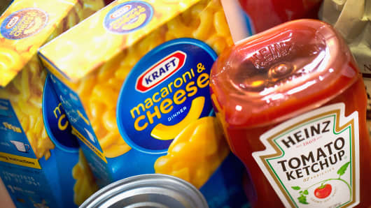 Kraft and Heinz products