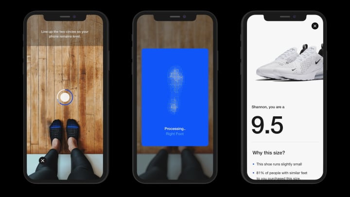 Nike just launched tech that will tell people what shoe size they really are