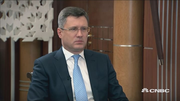 Political tensions have made the oil market 'very unstable': Russian Energy Minister