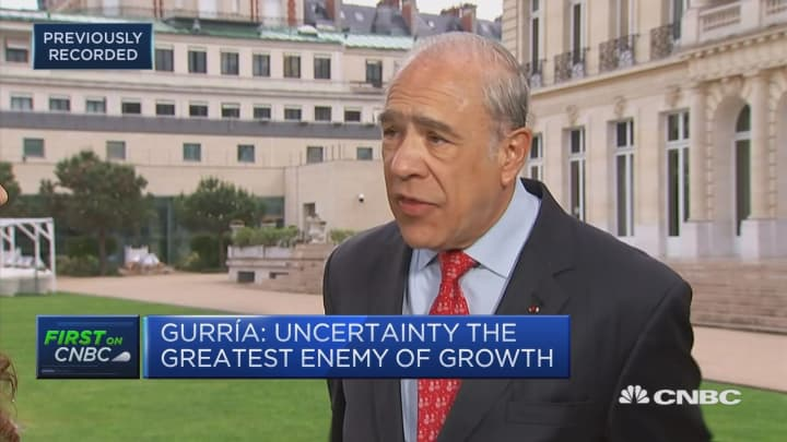 Investment is the seed of growth – and it's being stifled, OECD secretary general says