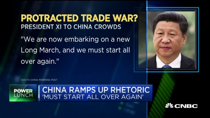 China ramps up its trade rhetoric all over again