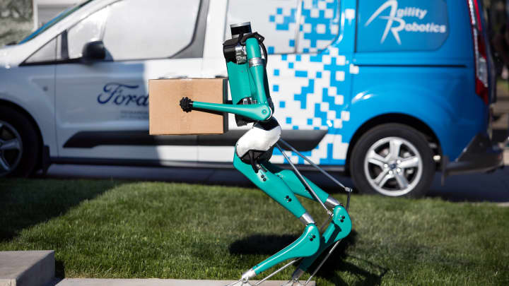 Ford partners with start-up to test two-legged robot for deliveries