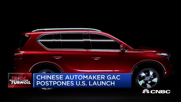 Chinese automaker GAC postpones its US launch due to trade concerns
