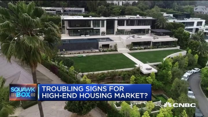 Here are some signs that high-end housing might be headed for trouble