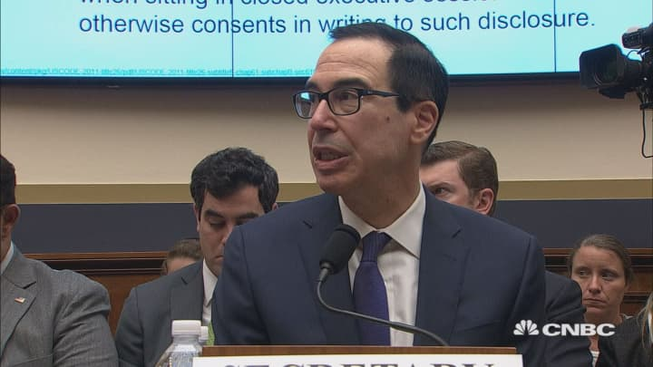 Mnuchin: I never spoke to anyone in the White House about providing Trump's tax returns to Congress