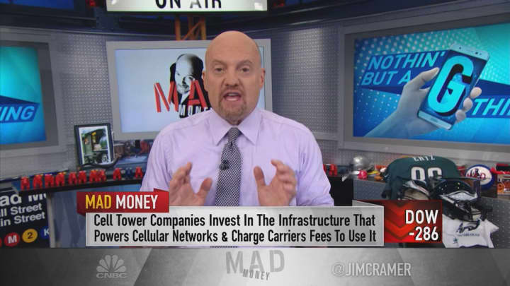 The 5G rollout has cell tower stocks in 'raging bull market mode': Cramer