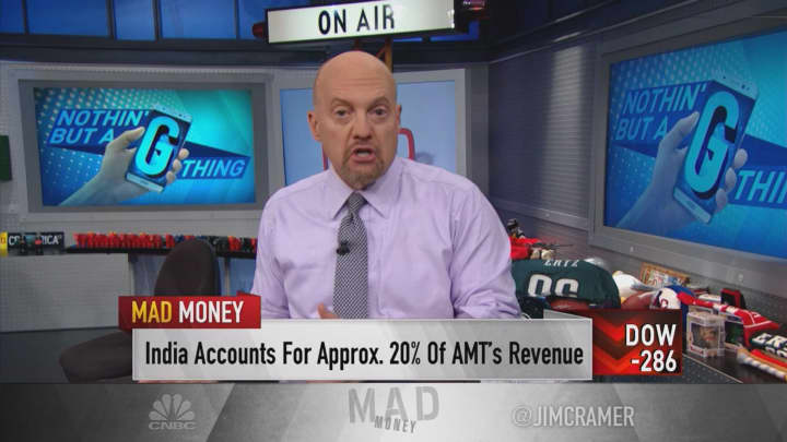 Cramer: 5G rollout has tower stocks in 'raging bull market mode'