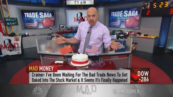 Cramer: The bad trade news is partially baked in, but the sell-off isn't over
