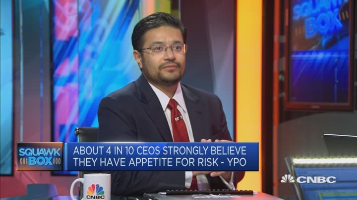 About 4 in 10 CEOs strongly believe they have apetite for risk, a survey found