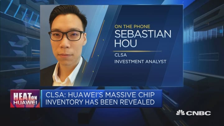 Huawei has enough chip inventories for the rest of the year: CLSA