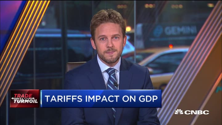 Here's how the trade tariffs might be impacting US GDP