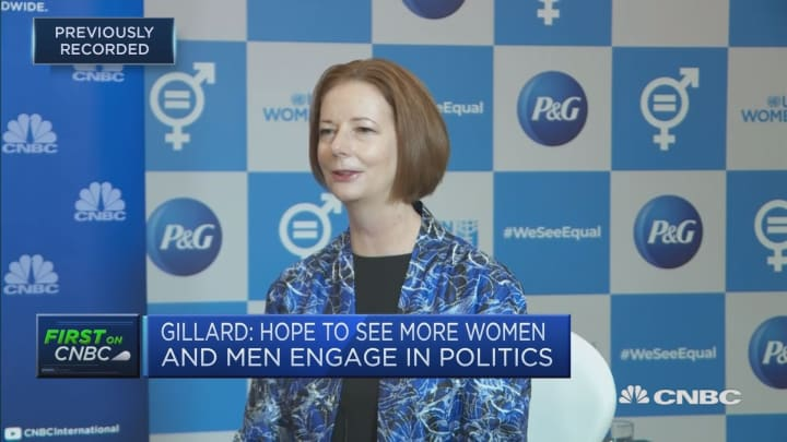 Australia's first female prime minister discusses gender equality in politics