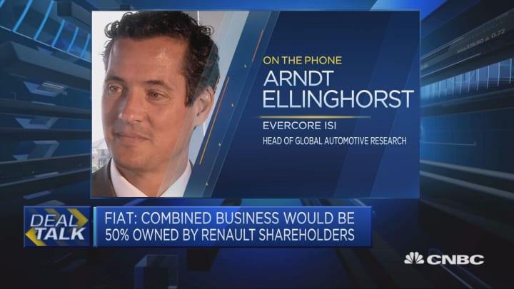 Market welcoming Fiat-Renault merger talks, expert says