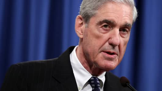 Special Counsel Robert Mueller makes a statement about the Russia investigation on May 29, 2019 at the Justice Department in Washington, DC.