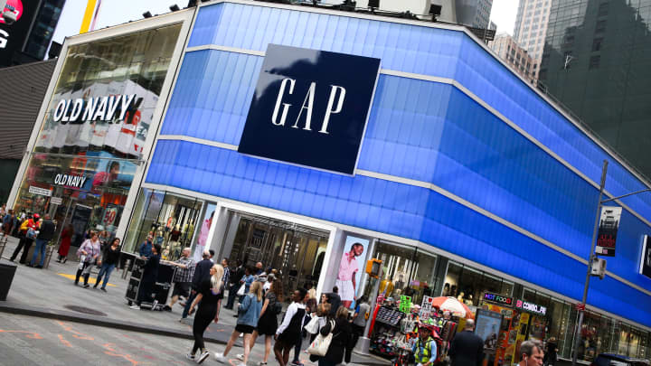 The Gap and Old Navy stores located in Times Square, New York.