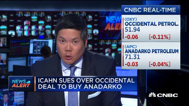 Carl Icahn files lawsuit over Occidental deal to buy Anadarko