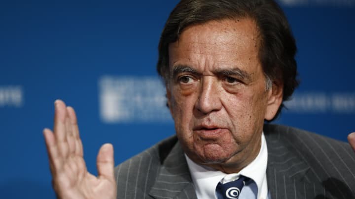 Bill Richardson, former governor of New Mexico, speaks during the Milken Institute Global Conference in Beverly Hills, California, U.S., on Tuesday, May 1, 2018.