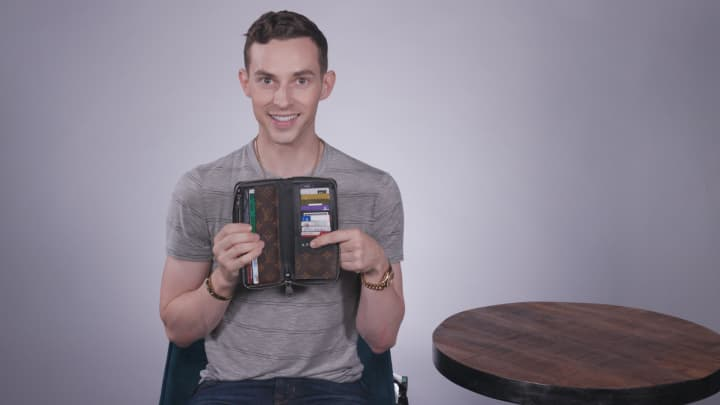 Here's what U.S. Olympic figure skater Adam Rippon carries in his wallet