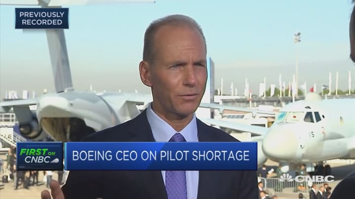 Boeing CEO: Pilot shortage 'one of the biggest challenges we have'