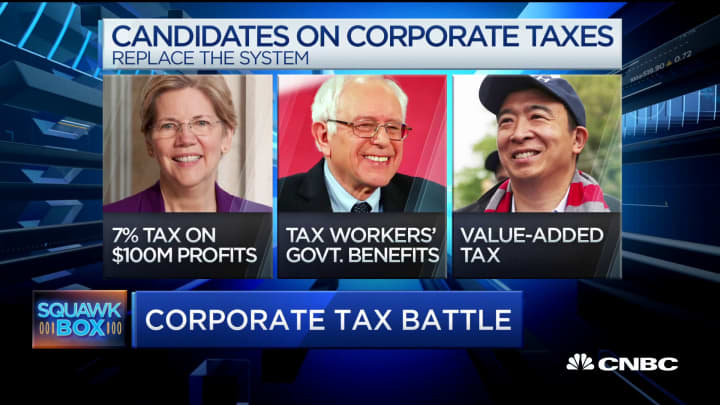 2020 presidential candidates take aim at GOP tax cuts