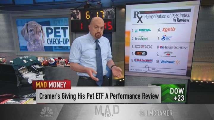 Jim Cramer shuffles his 'Humanization of Pets ETF' — 'It's paid off in 2019'