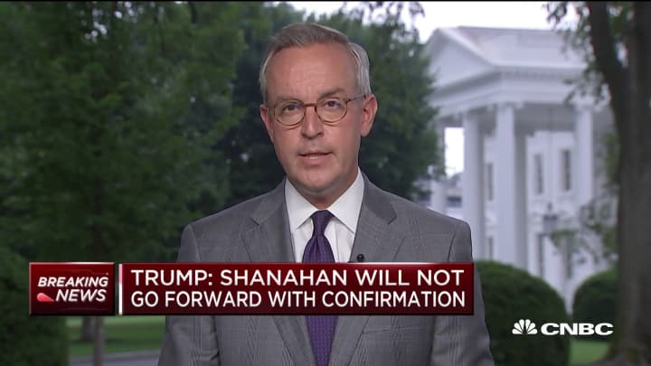 Trump: Acting Defense Secretary Patrick Shanahan to depart