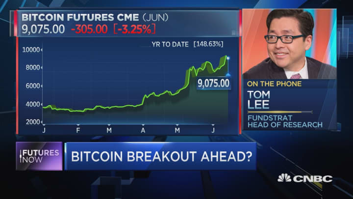 'FOMO' could take bitcoin from $9,000 to $20,000 in months: Tom Lee