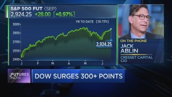 If the Fed disappoints the market, investor Jack Ablin warns June's big gains will be history
