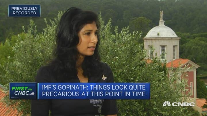 IMF chief economist concerned over 'precarious' economy and geopolitics