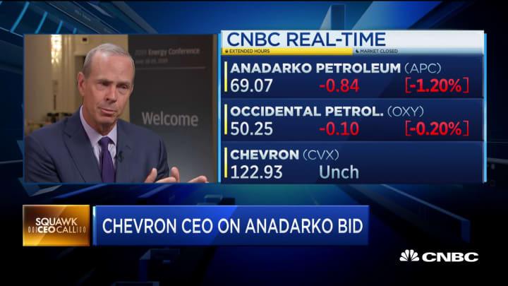 Chevron CEO: A higher Anadarko bid 'would have eroded shareholder value'