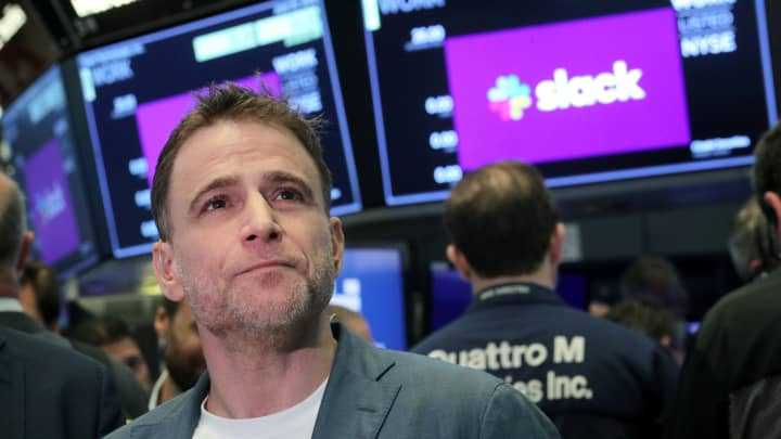 Slack CEO Stewart Butterfield on the company's first quarterly earnings after its IPO