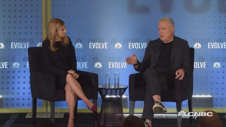 Former Aetna CEO Mark Bertolini with Sara Eisen at CNBC Evolve Summit