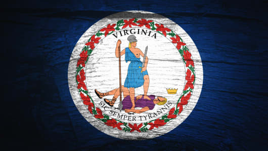 Flag of Virginia, USA