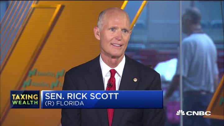 Senator Rick Scott on people heading to Florida for favorable taxes