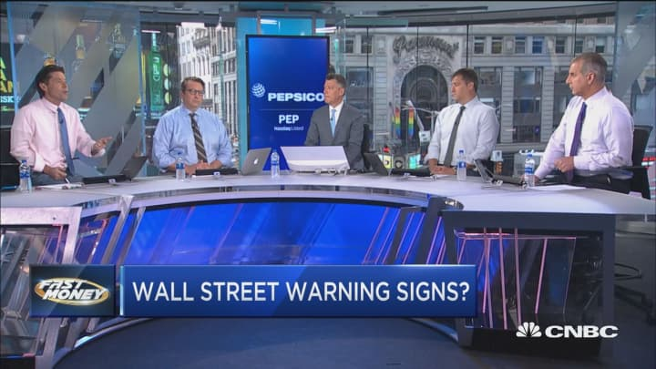 Wall Street ignoring a major warning sign for stocks