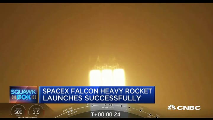 SpaceX's Falcon Heavy Rocket launches successfully