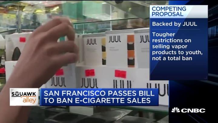 San Francisco passes bill to ban e-cigarette sales