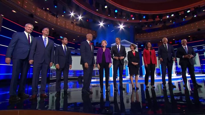 Watch the first round of Democratic candidates take the debate stage